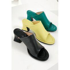 SIMPLY MOOD - Block-Heel Slide Sandals
