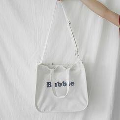 Eastin - Canvas Lettering Cross Bag