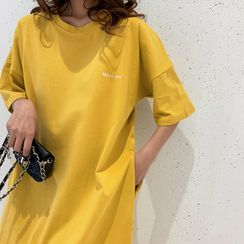 Shopherd - Short-Sleeve Midi T-Shirt Dress