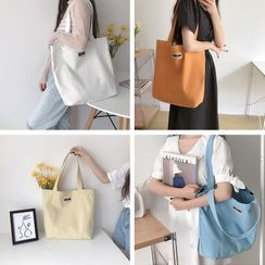 TangTangBags - Plain Lettering Canvas Tote Bag