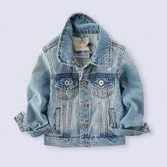 Happy Go Lucky(ハッピーゴーラッキー) - Kids Distressed Denim Jacket