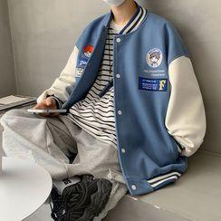 SHIN Shop - 双色棒球外套