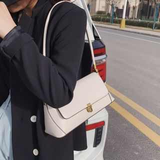 KOCORE - Faux Leather Flap Handbag