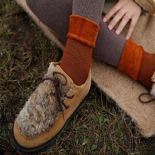 Kutsushita - Fleece-Lined Crew Socks