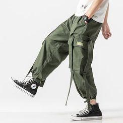 Ferdan - Strap Detail Cargo Pants