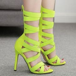 Niuna - Lace-Up Stiletto Heel Sandals