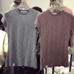 時尚麻豆家 - 條紋圓領T恤