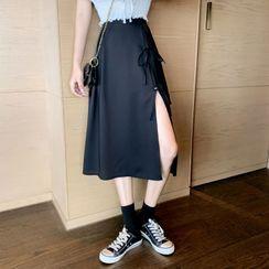 Luminato - Plain A-Line Midi Skirt