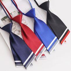 College Affair(カレッジアフェア) - Contrast Trim Short Neck Tie