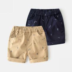 Seashells Kids - Kids Band-Waist Printed Shorts