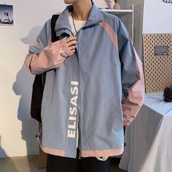 YERGO - Stand-Collar Color-Block Jacket