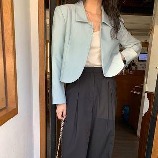 FROMBEGINNING - Button-Up Crop Jacket