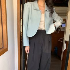 FROMBEGINNING(フロムビギニング) - Button-Up Crop Jacket