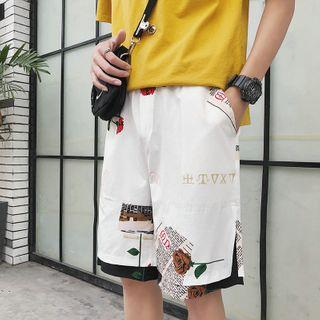 Puani - Printed Paneled Wide-Leg Shorts