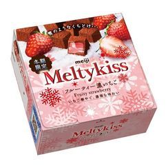 meiji - Melty Kiss Fruity Strawberry Chocolate 60g