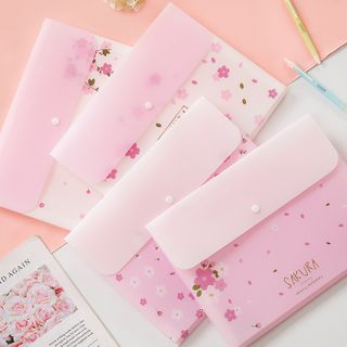 Chaga - Floral Print Document Pocket Folder