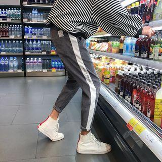YamYork - 配色邊修身褲