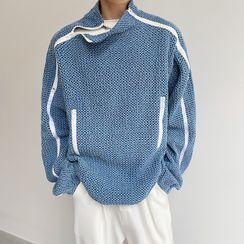 Lamow - Perforated Denim Sweatshirt