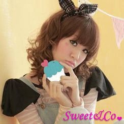 Sweet & Co. - XL可爱闪烁闪蓝CUPCAKE吊嘴颈链