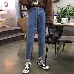 Kojasmine - Straight-Cut Cropped Jeans