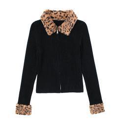 JIN STUDIOS - Long-Sleeve Zip Knit Top