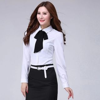 In the Mood - Tie Neck Blouse