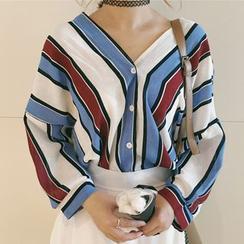Dute - Blusa de rayas con cuello en V