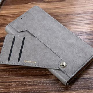 Quivier(キビエル) - Faux Leather Phone Case with Card Holder - Samsung
