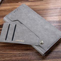 Quivier - 仿皮手機保護套連卡套 - Samsung