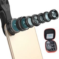 APEXEL - 5 in 1 Mobile Clip On Lens