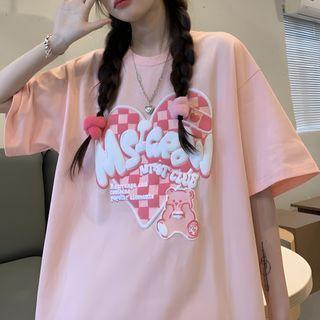 Isotopia - Elbow-Sleeve Print T-Shirt
