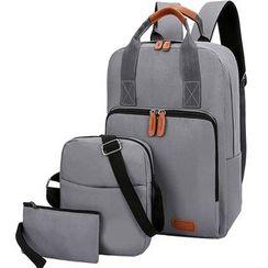 IDDZ - Set: Nylon Backpack + Crossbody Bag + Pouch