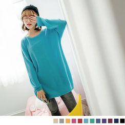 OrangeBear - Loose-fit Knit Top