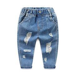 Seashells Kids - Kids Distressed Elastic-Waist Jeans