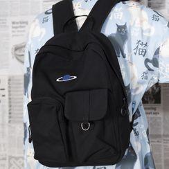 SUNMAN - 帆布刺繡背包