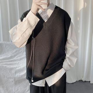 Sartho - Sleeveless V-Neck Knit Top