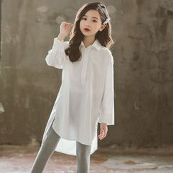 Cuckoo - Kids Long-Sleeve Shirt Dress / Leggings