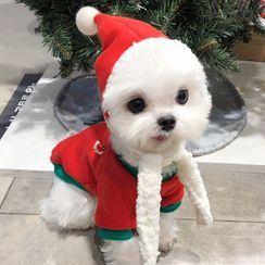 Bixin - Christmas Pet Top / Pet Dress / Hat / Set