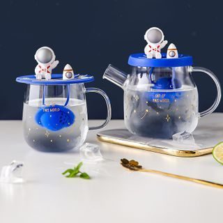 Kawa Simaya - Astronaut Tea Infuser Glass Mug / Tea Pot / Set