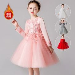 Doveark - Girls Long Sleeve Puff Dress