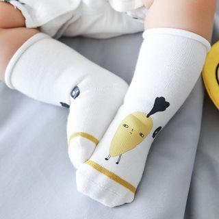Arelia - 3 Pairs Set: Print Baby Socks (Various Designs)
