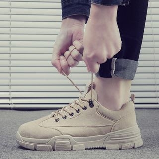 Tanzanite - Platform Lace-Up Shoes
