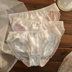 Loverly - Set of 3: Lace Trim Panties