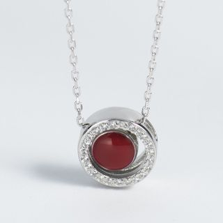 CHOSI - 925 Sterling Silver Bead Pendant Necklace