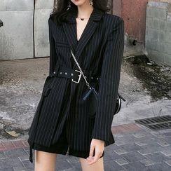 Whisparix - 条纹西装外套连衣裙