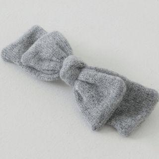 FROMBEGINNING - Knit Ribbon Hair Barrette