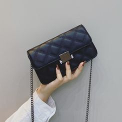Mercillia - Chain Quilted Flap Crossbody Bag