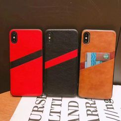 NISI - Faux Leather Card Holder Phone Case - iPhone 11 Pro Max / 11 Pro / 11 / SE / XS Max / XS / XR / X / 8 / 8 Plus / 7 / 7 Plus / 6s / 6s Plus