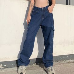 PolkaBella - Baggy-Fit Cargo Jeans