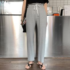 MERONGSHOP - Drawstring-Waist Sweatpants